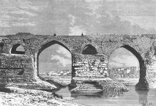 خاطرات  سه عکس تاریخی از پل قدیم دزفول در سال 1885 میلادی (128 سال ...